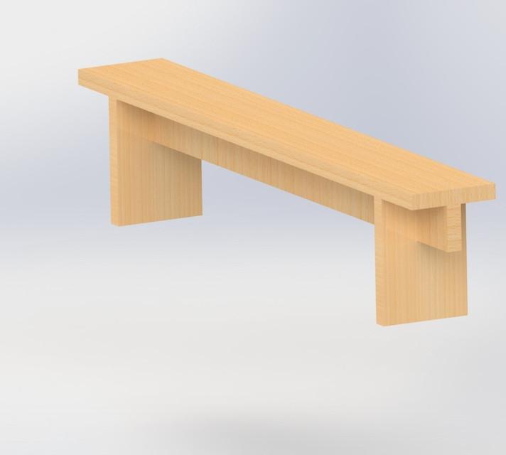 Fantastic Wooden Bench 3D Cad Model Library Grabcad Ibusinesslaw Wood Chair Design Ideas Ibusinesslaworg