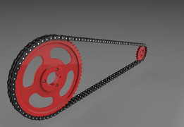 Roller chain drive (ISO 606 05B-2)
