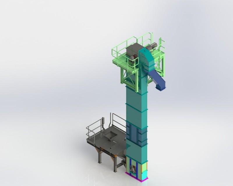 bucket elevator   3D CAD Model Library   GrabCAD