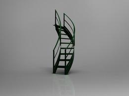 90 degree spiral stair