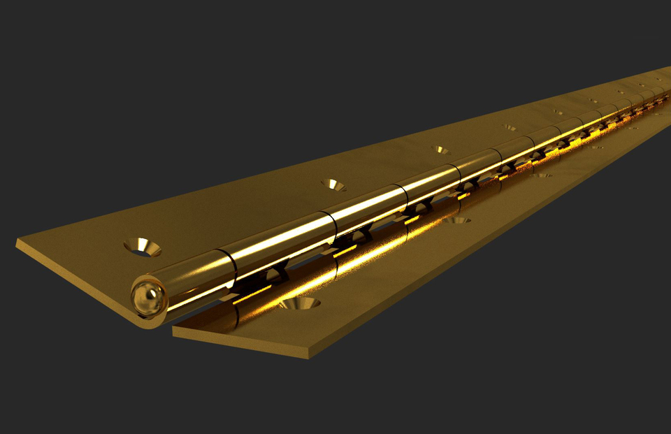 Piano Hinge Heavy Light Duty Step Iges Autodesk