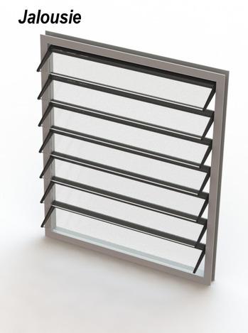 Window jalousie style solidworks 3d cad model grabcad for Jalousie window design