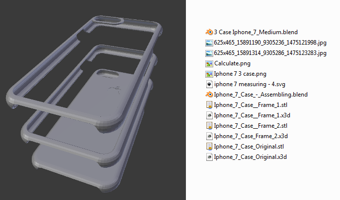 online store ac7b5 f93a9 Free Iphone 7 Case for 3d print | 3D CAD Model Library | GrabCAD