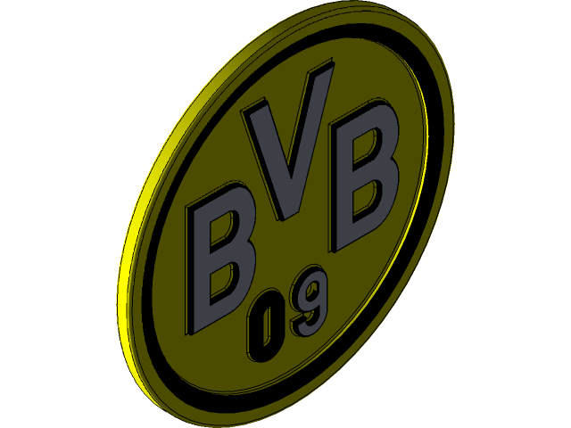 Borussia Dortmund Logo 3d Cad Model Library Grabcad