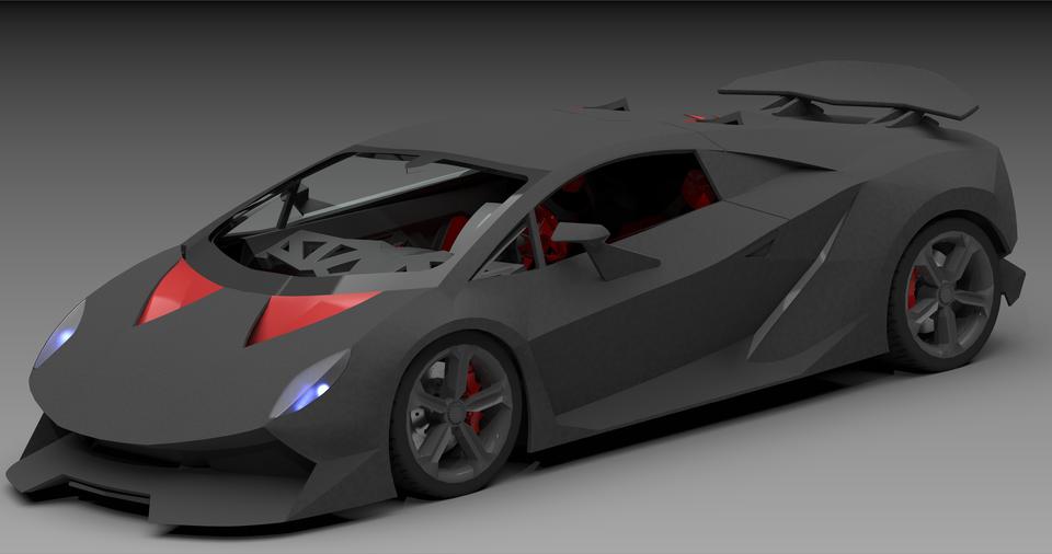 Lamborghini Sesto Elemento Toy Car 3d Cad Model Library Grabcad