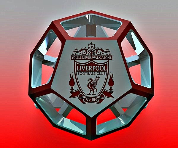 Dodecahedron With Liverpool Logo