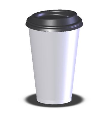 convenient store coffee cup   3D CAD Model Library   GrabCAD
