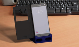 """Stand/Subwoofer for """"Samsung Galaxy Note 4"""" +Flip-Case +USB port"""
