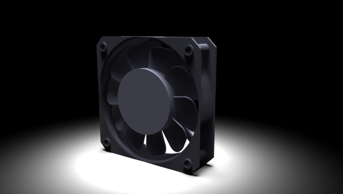 Request: 40mm x 10mm dc computer fan (iges or dwg)