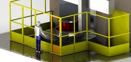 Proteção NR-12 Torno Vertical / Safety guarding for Vertical lathe