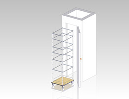 Pantry w-wire shelves