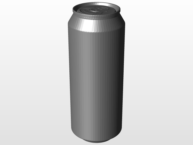 330ml and 500ml Beverage Cans   3D CAD Model Library