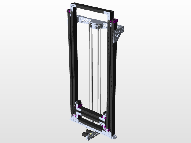 2 stage elevator   3D CAD Model Library   GrabCAD