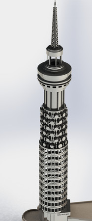 British Telecom, Telecom Tower, The London Tower,  Sheet metal puzzle, 3d puzzle, metalcraftdesign