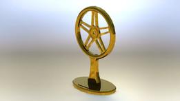 120 Dia Brass Bike Wheel Trophy
