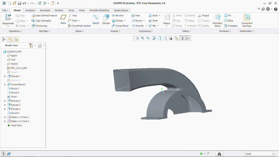 Exhaust Duct | 3D CAD Model Library | GrabCAD
