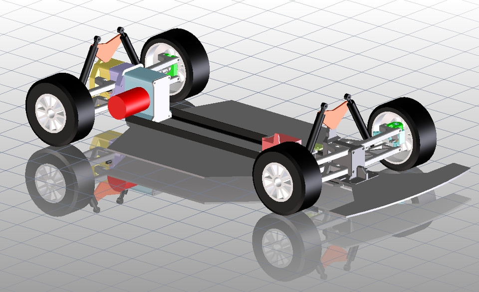 3d printed rc car chassis 1 6 | 3D CAD Model Library | GrabCAD