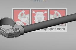 Gilles tooling clip on gp-lights (left) 50mm.