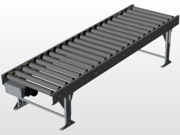 Driven conveyor adjustable