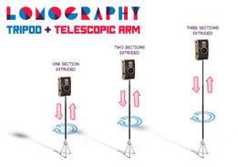 Tripod + Telescopic Arm Stand