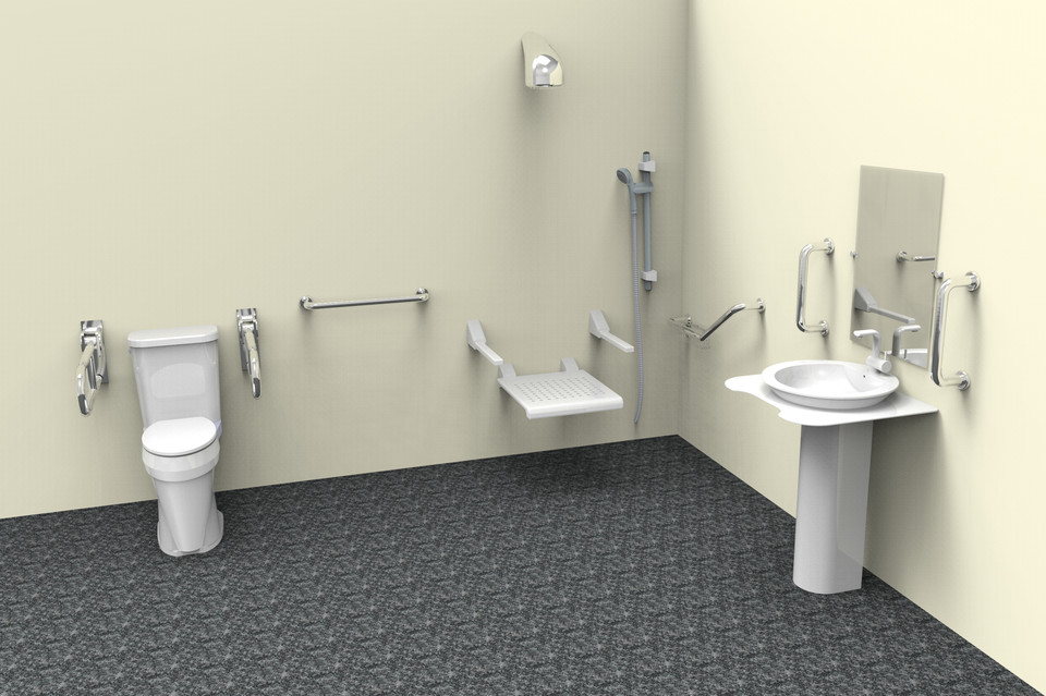 handicap Bathroom | 3D CAD Model Library | GrabCAD