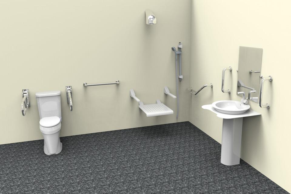 Handicap bathroom 3d cad model grabcad for 3d bathroom models
