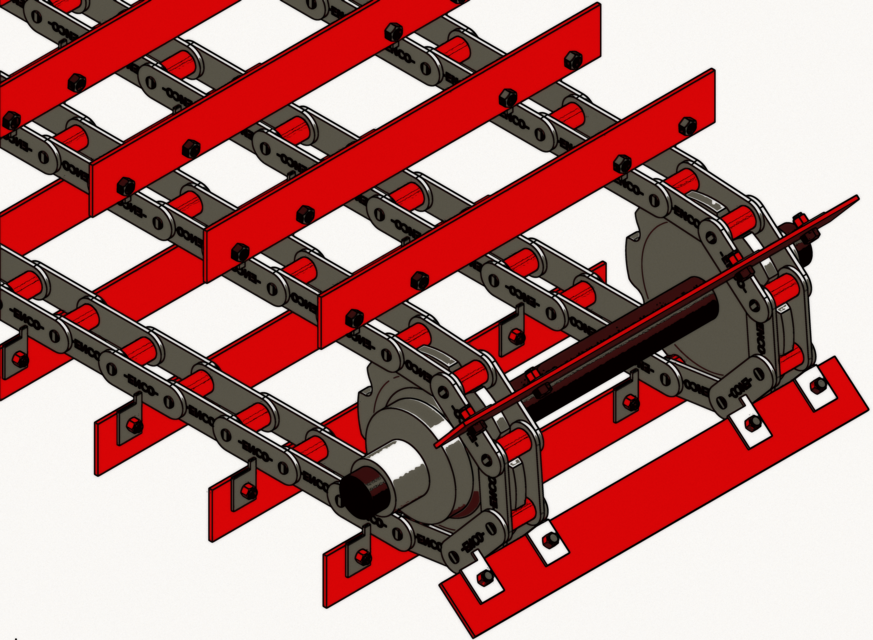 SCRAPER CONVEYOR CHAIN | 3D CAD Model Library | GrabCAD