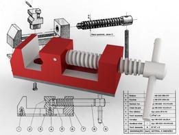 SOLIDWORKS, vise - Most downloaded models | 3D CAD Model