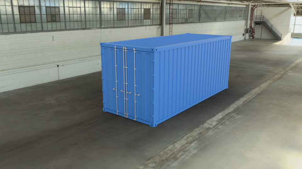 Intermodal Container | 3D CAD Model Library | GrabCAD