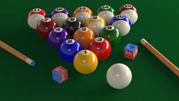 Billiard Table Scene