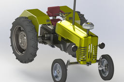 Tractor, exploded view and walkthrough animation.