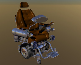 Steam Punk wheel chair design