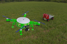 Drone and mobile station. Topology optimization of structure of the drone and attachment.