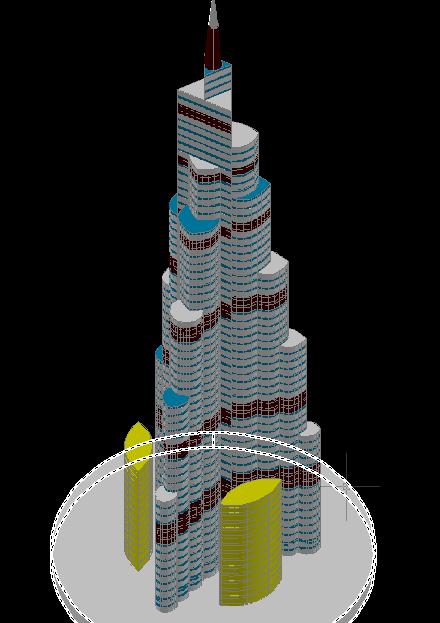 Burj khalifa (burj dubai)   3d warehouse.