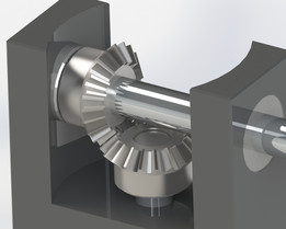 Mini bevel gearbox