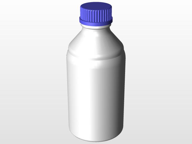 Schott - Duran lab bottle 1l GL45 | 3D CAD Model Library