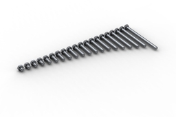 Hexagon head screw ISO 4017 (DIN 933)