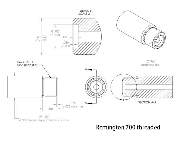 remington 700 26 u0026quot  barrel