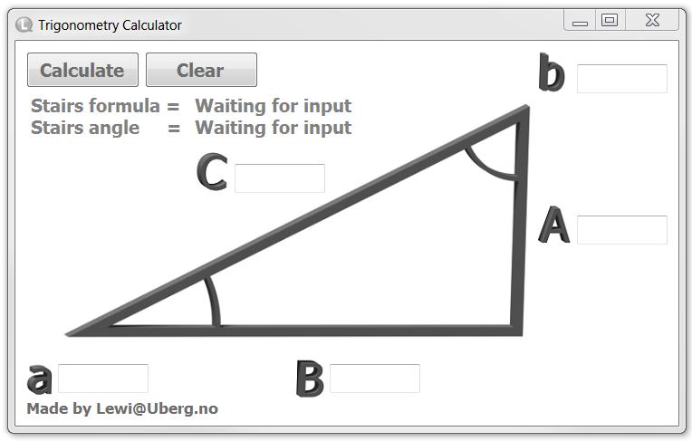 Trigonometry Calculator W/stair Formula Included   3D CAD Model   GrabCAD