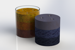 Triple-wick Decorative Candle