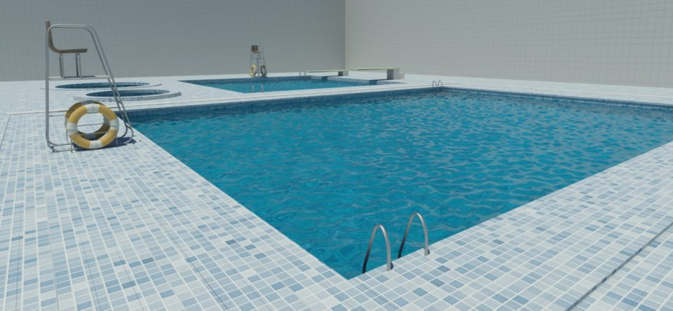 Swimming pool 3d cad model library grabcad for Swimming pool 3d model free download