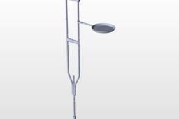 foldable plate crutches