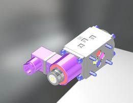 Single selenoid valve