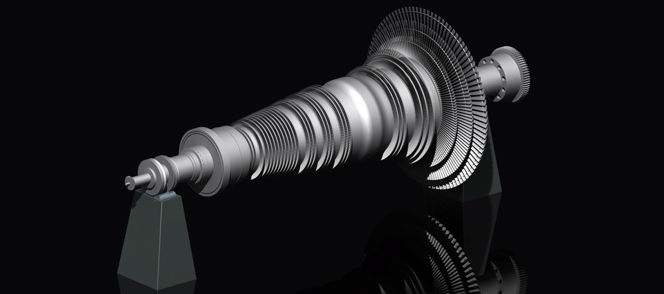Steam Turbine Model | 3D CAD Model Library | GrabCAD