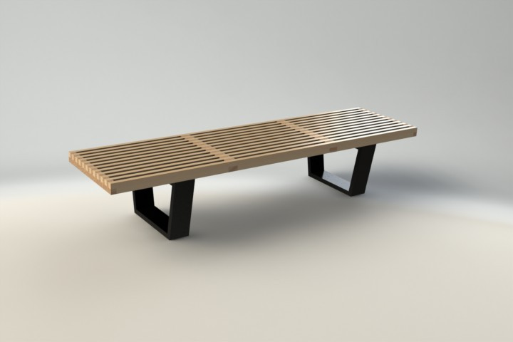 George Nelson Platform Bench Solidworks Stl 3d Cad Model Grabcad