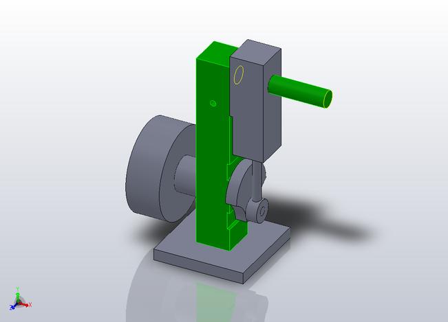 Simple Pneumatic Engine Solidworks 3d Cad Model Grabcad