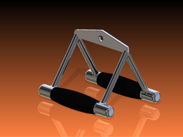 Double D Grip Seated Row Cable Attachment Handle