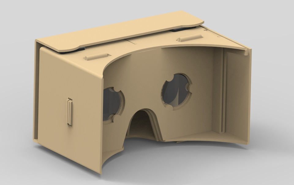 Google Cardboard VR Headset | 3D CAD Model Library | GrabCAD