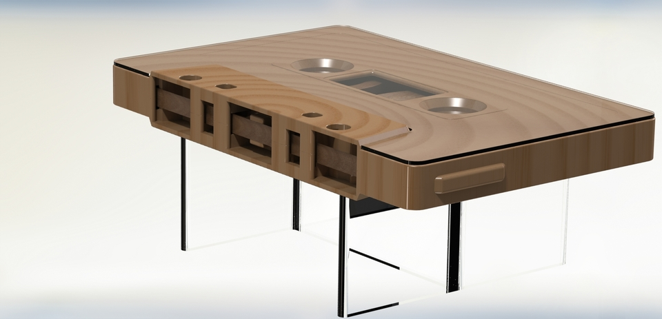 Cassette Tape Coffee Table D CAD Model Library GrabCAD - Cassette coffee table