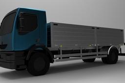 Open-Body Renault Midlum Truck